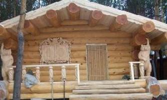 Баня из оцилиндрованного бревна 6 4: особенности строительства