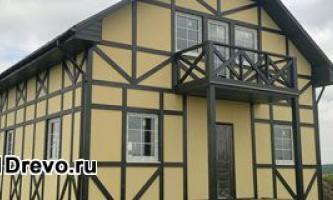 Брусковый дом - каркасная технология строительства дома из брусков