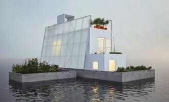 Carl turner architects представили плавучий дом для проекта paperhouses