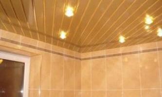 Цены, фото и монтаж реечного потолка в ванной комнате