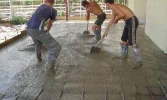Что такое бетонные промышленные полы