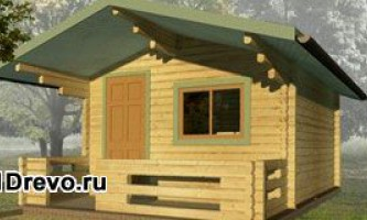 Дачные или садовые дома из мини-бруса - компактные домики