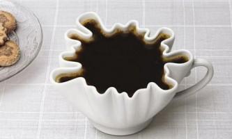 """Для кофе - чашка-""""клякса"""""""