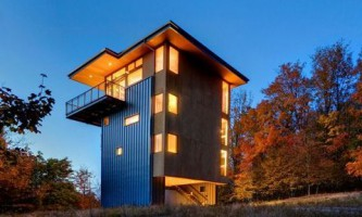 Дом-башня на озере мичиган (фото)