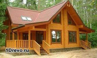Дизайн современных домов из бруса