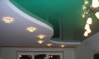 Двухярусные потолки — натяжные и из гипсокартона