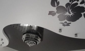 Фотографии двухуровневого натяжного потолка
