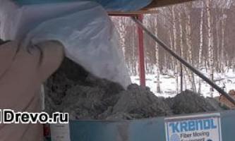 Использование эковаты для утепления дома из дерева