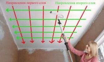 Изучаем, как покрасить потолок без разводов