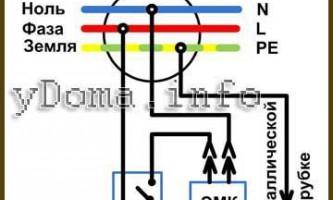 Электрическая схема управления биде унитаза выключателем