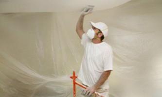Этапы покраски потолка из гипсокартона