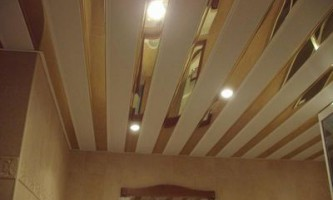 Как и каким сделать потолок в бане