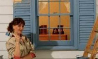 Как красить деревянные окна?