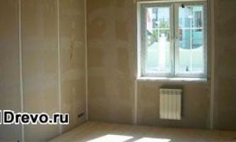 Как обшить бревенчатый дом изнутри гипсокартоном
