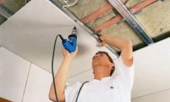 Как обшить потолок гипсокартоном своими руками?