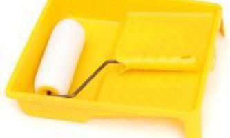 Как очистить валик от краски
