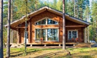 Как построить дом из цельного бруса