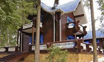 Как построить дом-терем под старину из оцилиндрованного бревна?