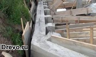 Как построить фундамент под дом из бруса - особенности работ