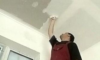 Как правильно шпаклевать потолок из гипсокартона — уроки мастера