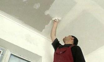 Как правильно штукатурить потолок — проводим процесс своими руками