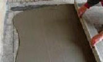 Как сделать цементную стяжку пола?