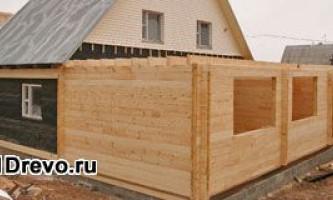 Как спланировать пристрой из бруса к деревянному дому