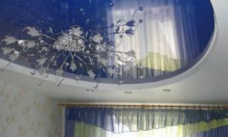 Какие натяжные потолки поставить в зал квартиры?