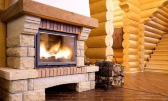 Камин обеспечит тепло в доме