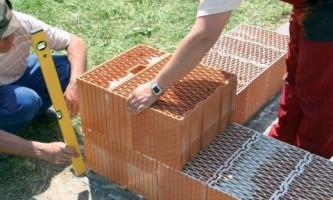 Керамические блоки: технология кладки