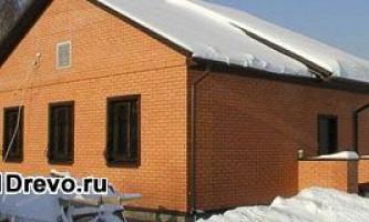 Когда используется наружная отделка деревянного дома кирпичом