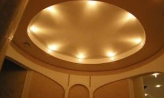 Круглый потолок из гипсокартона: инструкция по монтажу с фото и видео