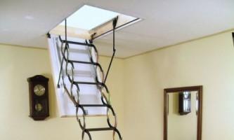 Лестница на чердак: виды конструкций