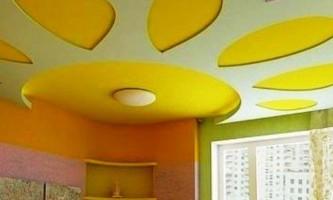 Методы окрашивания потолков из гипсокартона