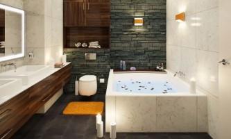 Мини-бассейн в ванной. Оригинальный проект санузла