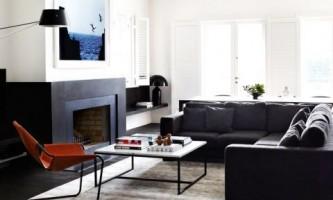 Модный монохромный интерьер австралийского дома