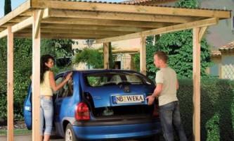 Навес для автомобиля лучше, чем гараж?