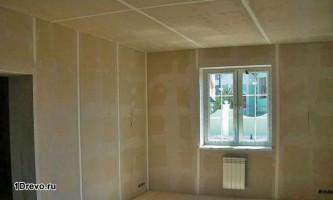 Обшивка стен в брусовом доме: гипсокартон для отделки
