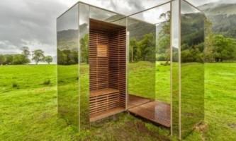 Невидимый дом из зеркал