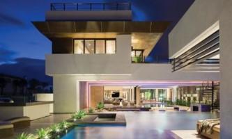 Новый американский дом на берегу океана (фото)