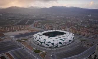 Новый стадион в городе конья в центральной части турции