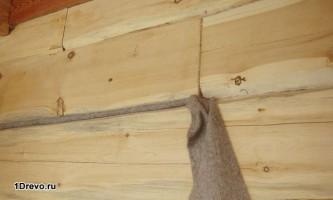 Нужно ли конопатить дом из профилированного бруса