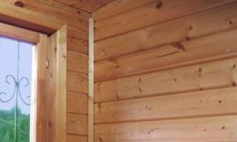 Обшивка деревянного дома имитацией бруса