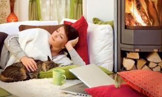 Отопление частного дома с помощью камина