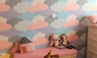 Пестрые обои в детской комнате: роскошные идеи
