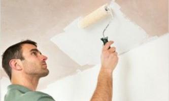 Побелка потолка валиком: 5 подробных этапов