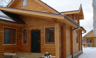 Преимущества дома из сухого профилированного бруса лиственницы