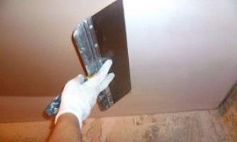 Раскрываем секреты мастеров — как шпаклевать потолок