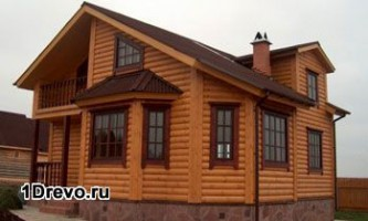 Распространённые варианты отделки бревенчатого дома