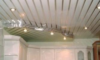 Реечный потолок албес в интерьере